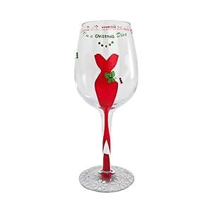 Lolita Hand Painted Christmas Diva Christmas Design Wine