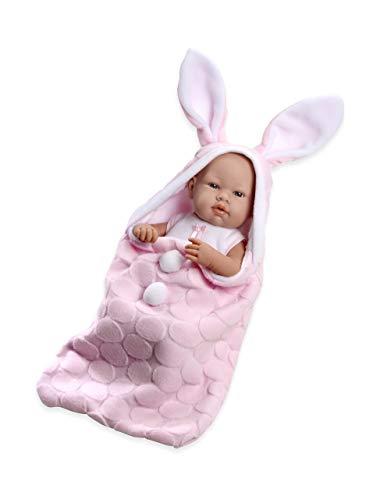 Ann Lauren Dolls 17 Inch Baby Girl Doll with Pink Bunny -