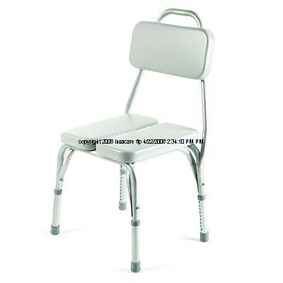 Padded Vinyl Shower Chair - INV9872 - Vinyl Padded Shower Chair, 17-1/4 - 22 x 15-1/4 x 16