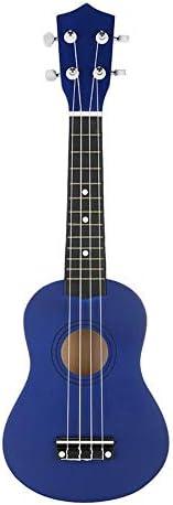 ギター 青い色のギグバッグストリングスチューナー付き21インチの経済ソプラノウクレレウケ小ハワイギター楽器 クラシック ギター (Color : Blue, Size : 21inch)