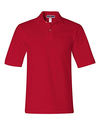 Jerzees mens 6.5 oz. Ringspun Cotton Pique Polo(440)-TRUE RED-3XL