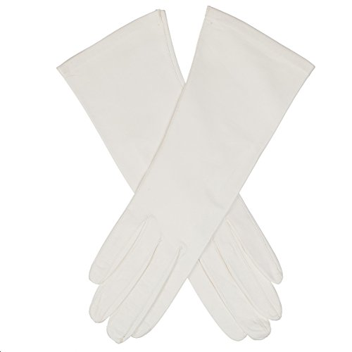 Lundorf Royal Womens Unlined White Leather Dress Gloves - Type B- size 6