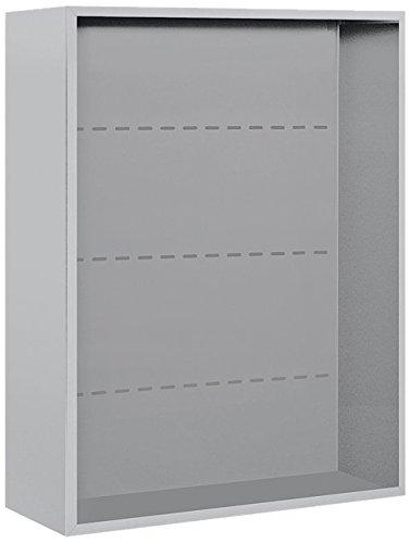 Salsbury Industries 3810D-ALM Surface Mounted Enclosure for 3710 Double Column, Aluminum Aluminum 4c Horizontal Mailboxes
