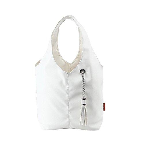 Leather Shoulder BURGAN Handbags Hobo Unlined Ivory Magnus wq00APIt