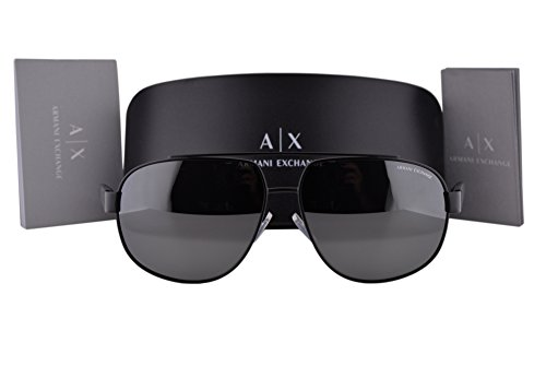 Armani Exchange AX2019S Sunglasses Matte Black w/Silver Mirror Lens 60636G AX - Sunglasses Cheap Armani