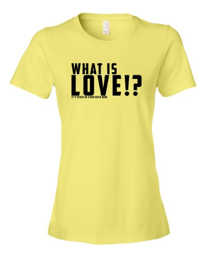 What Is Love Its Stuck In Your Head Now Tee Shirt Womens XXL yellow N
