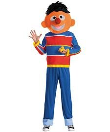 Disguise Men's Sesame Street Ernie Costume, Red/Blue/Tan/Black, (Ernie Costume)