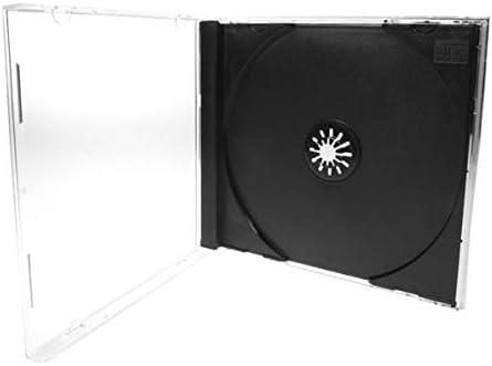 5 Cajas de Almacenamiento para CD y DVD, Color Negro y ...