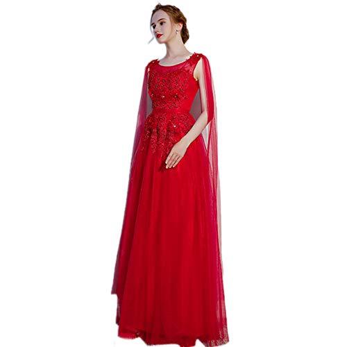 Sottile Rosso Qjkai Nuziale Piccolo Elegante Da Vestito Trascinamento Estate Cerimonia 57qwvFAc1q