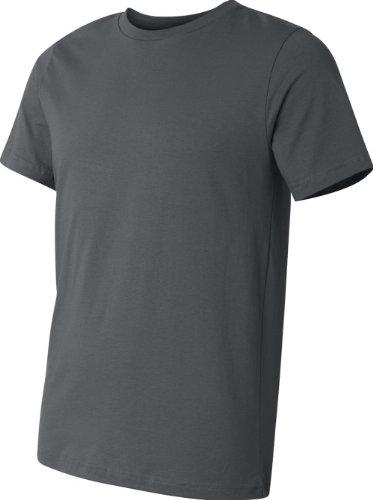 Bella + Canvas Unisex Kurze Ärmel hergestellt in den USA Crewneck T-Shirt–Athletic Heather xl grau - Asphalt