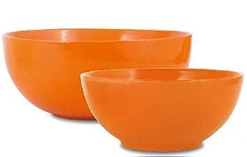Borella Casalighi Zara Juego Ensaladeras, cerámica, Multicolor, 2 Unidad: Amazon.es: Hogar