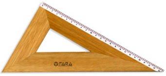 Squadra FARA in Legno Verniciato con Millimetratura di Precisione - (cm. 32 x 60°)