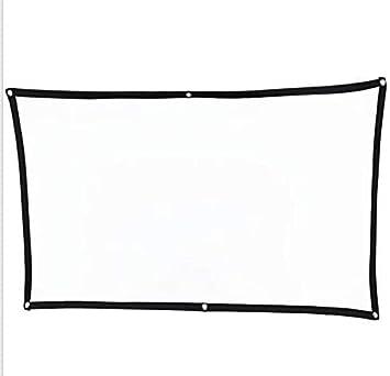 Pantalla de proyecci/ón port/átil FANGOR 16 9 HD Plegable para Cine en casa Cine Interior Interior Pantalla del proyector 100 Pulgadas