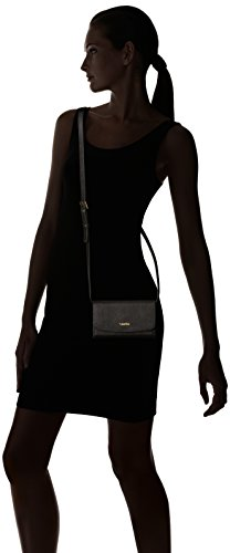 Saffiano Black Crossbody Gold Logan Calvin Leather Klein Xq0Ex7xnwp