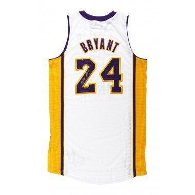 Kobe Bryant Autographed 2010 Adidas Authentic White Laker...