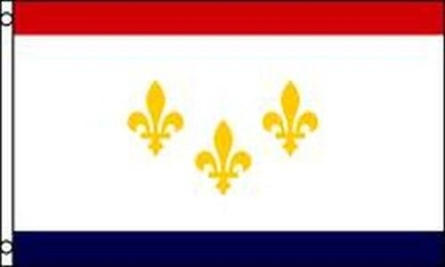 USA Premium Store City of New Orleans Flag 3x5 ft NOLA Louisiana Fleur de Lis Banner Mardi Gras - Stores Orleans