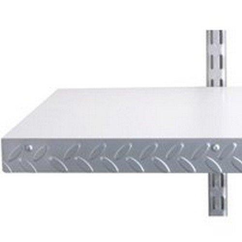 John Sterling Corp 0220-48PM 48'' Steel Diamond Plate Heavyweight Shelf Edge