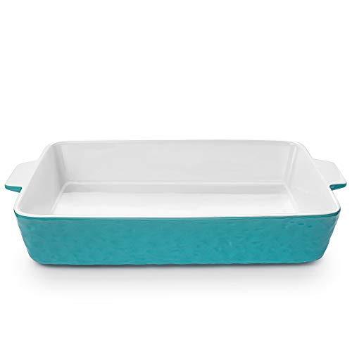 Baking Dishes, Krokori Rectangular Bakeware Set Ceramic Baking Pan Lasagna Pans for Cooking, Kitchen, Cake Dinner…