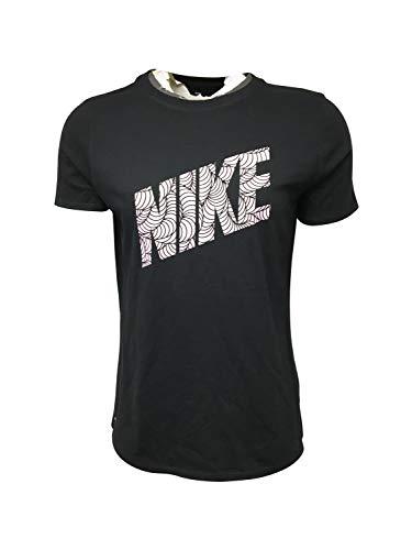 Nike Women's T-Shirt Cotton/Polyester Blend DM8363 Black 1