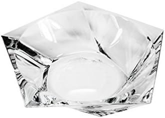 Bohemia Crystal Bowl Ocean , 14 Dia Decorative Crystal Platter, Elegant Centerpiece Candies Confectionery Fruit Bowl, Wedding Gift Platter Special Bonus Gift Figurine
