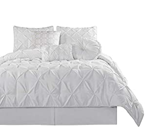 Chezmoi Collection Sydney 7 Piece Pintuck Duvet Cover Set, Queen, White (B00MXD5YYO) | Amazon price tracker / tracking, Amazon price history charts, Amazon price watches, Amazon price drop alerts