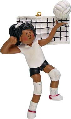 - African American Female Volleyball Player Christmas Ornament