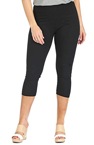 INTRO. Tummy Control High Waist Capri Length Legging BLK-XL ()