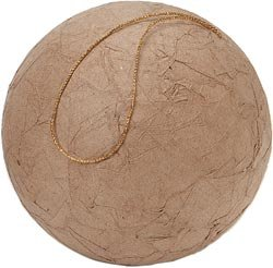 Darice Bulk Buy Core'dinations Paper Mache Wrinkled Ball 100mm (12-Pack)