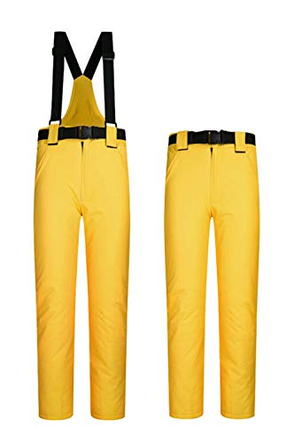 Women's Snow Pants Outdoor Waterproof Windproof Ski Pants Warm Insulated Snowboard Pants Yellow US M