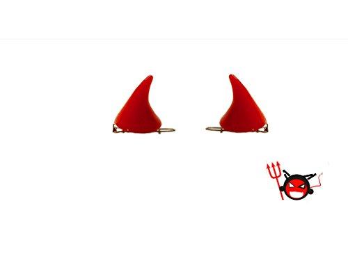 Geoot 1 Pair Trendy Women Little Devil Punk Hair Clip (Red) -