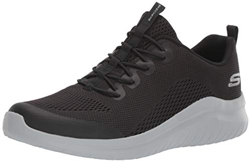 Skechers Men's Ultra Flex 2.0 Kelmer Loafer, Black/Gray, 9 M US (The Best Flex Com)