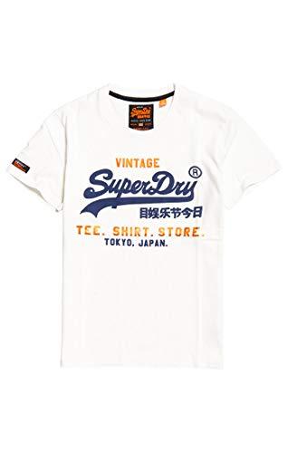 Superdry 01c Bianco Shop Shirt Tee optic Homme R0gqR