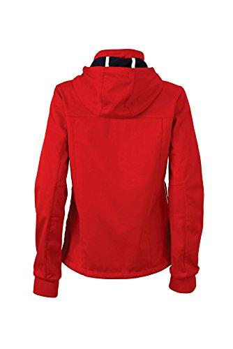 Maritime Nicholson Ladies red navy white Sofshell Rosso Jacket amp; James Giacca Donna gIxAqTg