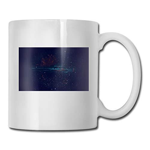 Porcelain Coffee Mug Gun Light Black Ceramic Cup Tea Brewing Cups for Home Office ()