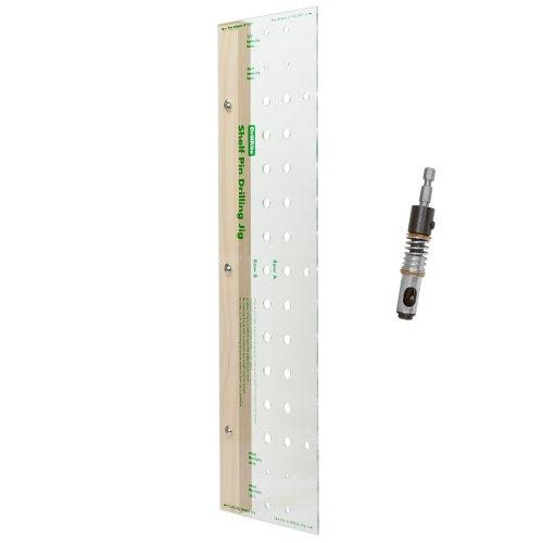 - Shelf Pin Drilling Jig for Aligning Shelf Pin Holes