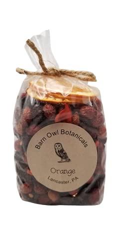 헛간 올빼미 BOTANICALS 오렌지 로즈힙 포푸리 반 파운드 가방