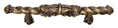 Carpe Diem Hardware 826-3 Acanthus 4-Inch O.C. Large Center Pull, Antique Brass -