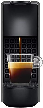 NESPRESSO Cafetera Essenza Mini, Color Gris (Incluye obsequio de 14 cápsulas de café)