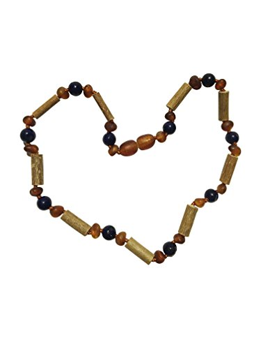 - Baltic Amber and Hazelwood Necklace. Colic, Reflux and Teething. Individually Knotted. for Babies and Toddlers. (Lapis Lazuli/Amber/Hazelwood)