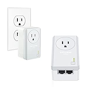 TP-Link AV500 Powerline with Power Outlet Pass Through Starter Kit (TL-PA4010P KIT)