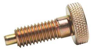 1/4''-20 Dia x 0.805''L 0.5lb-2lb Force Steel Alloy Knurled Knob Retractable Plunger
