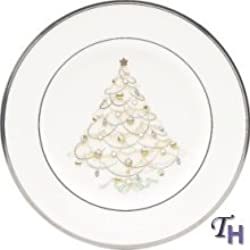 Noritake Palace Christmas Holiday Accent Plate, Platinum
