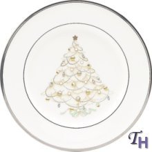 Noritake Palace Christmas Holiday Accent Plate, Platinum