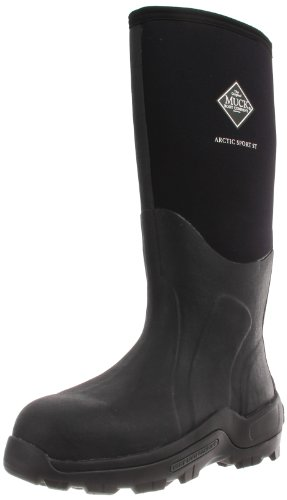 Stl Toe Boots - Muck Arctic Sport High Performance Tall Steel Toe Insulated Men's Rubber Work Boots,Black,10 M US