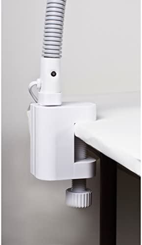 Lámpara de lectura con lupa pie lámpara lámpara de oficina escritorio stand lámpara con flexarm