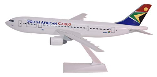 African 200 Airlines South - South African Cargo A300B2 Airplane Miniature Model Plastic Snap-Fit 1:200 Part# AAB-30000H-014