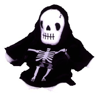 [Ty Beanie Babies - Creepers the Skeleton] (Boo Baby Costume)