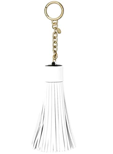 Michael Kors Womens Leather Tassel Fashion Keychain White O/S by Michael Kors