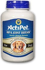 Hip & Joint Defense For Dogs ActiPet 60 Tabs ()