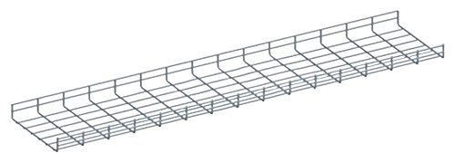 Quest Manufacturing Wire Mesh Cable Tray, 10' x 12''W x 2''H, Zinc (CT1012-03)